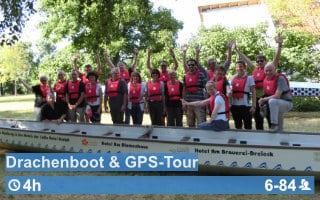 Teamwärts Kacheln DrachenbootGPS - Erlebnis-Bier-Wanderung Bamberg