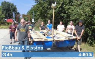 Teamwärts Kacheln FlossbauEis - Floßbau + GPS-Tour