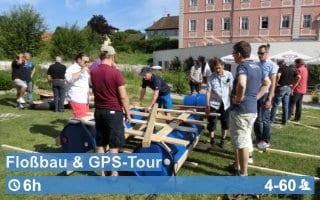 Teamwärts Kacheln FlossbauGPS - Teamtraining
